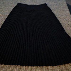 Black Crepe Evening Skirt, maxi, Dana Buchman